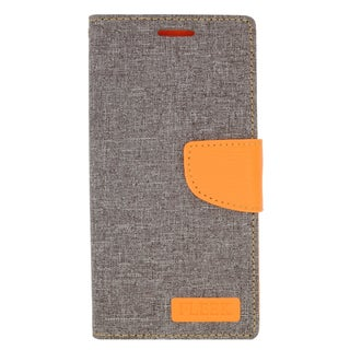 Insten Gray/ Orange Leather Case Cover with Stand/ Wallet Flap Pouch/ Photo Display For Samsung Galaxy Note 5