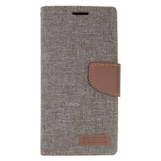 Insten Gray/ Brown Leather Case Cover with Stand/ Wallet Flap Pouch/ Photo Display For Samsung Galaxy S6 Edge Plus