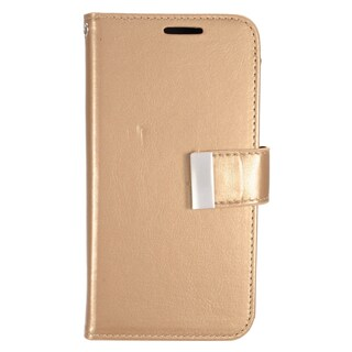 Insten Gold Leather Case Cover with Wallet Flap Pouch/ Photo Display For Samsung Galaxy S7