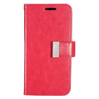 Insten Hot Pink Leather Case Cover with Wallet Flap Pouch/ Photo Display For Samsung Galaxy S7