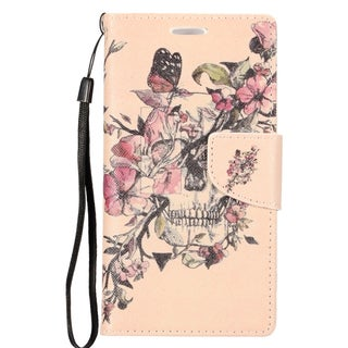 Insten Colorful Flowers Leather Case Cover Lanyard with Stand/ Wallet Flap Pouch/ Photo Display For LG G Stylo/ G Vista 2