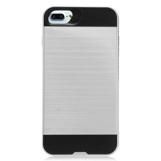 Insten Silver/ Black Hard Snap-on Dual Layer Hybrid Brushed Case Cover For Apple iPhone 7 Plus