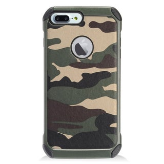 Insten Green/ Black Camouflage Hard Snap-on Dual Layer Hybrid Case Cover For Apple iPhone 7 Plus