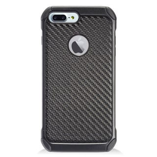 Insten Black Carbon Fiber Hard Snap-on Dual Layer Hybrid Case Cover For Apple iPhone 7 Plus