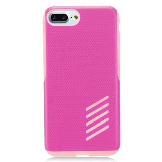 Insten Hot Pink/ Black Hard Snap-on Dual Layer Hybrid Case Cover For Apple iPhone 7 Plus