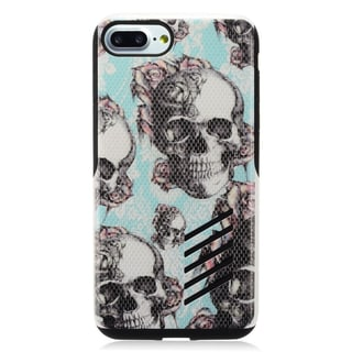 Insten Blue Skull Hard Snap-on Dual Layer Hybrid Case Cover For Apple iPhone 7 Plus