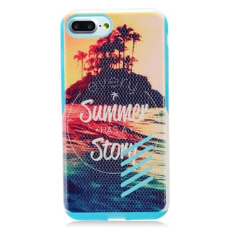 Insten Colorful Summer Story Hard Snap-on Dual Layer Hybrid Case Cover For Apple iPhone 7 Plus