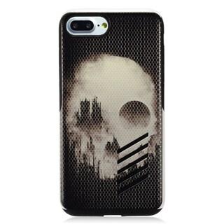 Insten Black/ White Skull Hard Snap-on Dual Layer Hybrid Case Cover For Apple iPhone 7 Plus