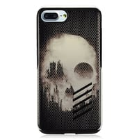 Insten Black/ White Skull Hard Snap-on Dual Layer Hybrid Case Cover For Apple iPhone 7 Plus