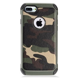 Insten Green/ Black Camouflage Hard Snap-on Dual Layer Hybrid Case Cover For Apple iPhone 7