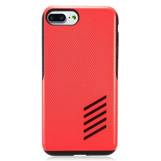 Insten Red/ Black Hard Snap-on Dual Layer Hybrid Case Cover For Apple iPhone 7