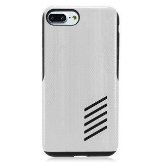 Insten Silver/ Black Hard Snap-on Dual Layer Hybrid Case Cover For Apple iPhone 7