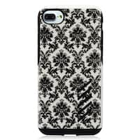 Insten Black/ White Lace Flower Hard Snap-on Dual Layer Hybrid Case Cover For Apple iPhone 7