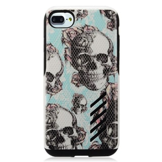 Insten Blue Skull Hard Snap-on Dual Layer Hybrid Case Cover For Apple iPhone 7
