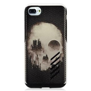 Insten Black/ White Skull Hard Snap-on Dual Layer Hybrid Case Cover For Apple iPhone 7