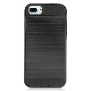 Insten Black Hard Snap-on Dual Layer Hybrid Brushed Case Cover For Apple iPhone 7