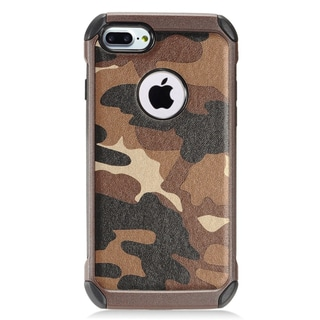 Insten Brown/ Black Camouflage Hard Snap-on Dual Layer Hybrid Case Cover For Apple iPhone 7