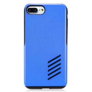 Insten Blue/ Black Hard Snap-on Dual Layer Hybrid Case Cover For Apple iPhone 7