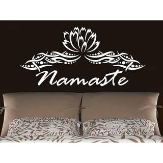 Namaste Lotus Flower Yoga Mandala Indian Ornament Moroccan Home Decor Bedroom Art Interior Sticker D