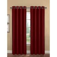 Bella Luna Bliss Faux Silk Room Darkening 84-inch Grommet Curtain Panel Pair - 76 x 84