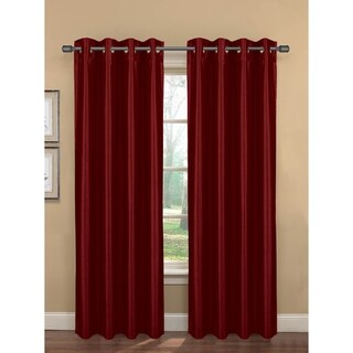 Bella Luna Bliss Faux Silk Room Darkening 84-inch Grommet Curtain Panel Pair - 76 x 84 (More options available)