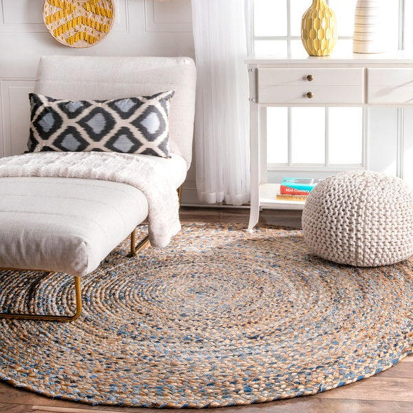 Shop nuLOOM Handmade Braided Natural Fiber Jute Round Rug