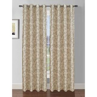 Bella Luna Pinehurst Printed Faux Silk Room Darkening Extra Wide 84-inch Grommet Curtain Panel - 54 x 84