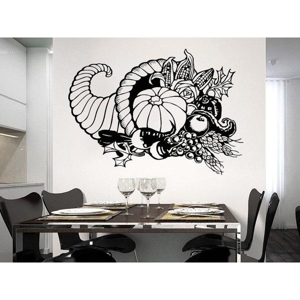 Vegetables Harvest Vinyl Sticker Decals Kitchen Cafe Canteen Home Decor Art Decal Size 48x65 Color