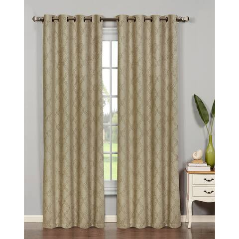 Bella Luna Newbury Lattice Room Darkening Extra Wide 84-inch Grommet Curtain Panel - 54 x 84