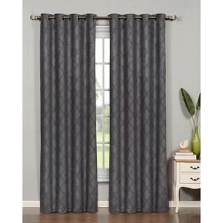Bella Luna Newbury Lattice Room Darkening Extra Wide 84-inch Grommet Curtain Panel - 54 x 84 (4 options available)