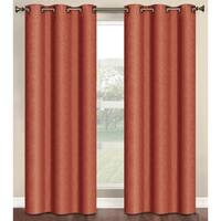 Bella Luna Marina Faux Linen Room Darkening 84-inch Grommet Curtain Panel Pair - 76 x 84