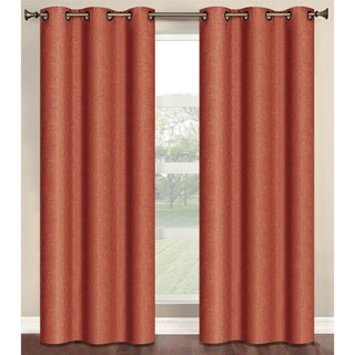Bella Luna Marina Faux Linen Room Darkening 84-inch Grommet Curtain Panel Pair - 76 x 84 (3 options available)
