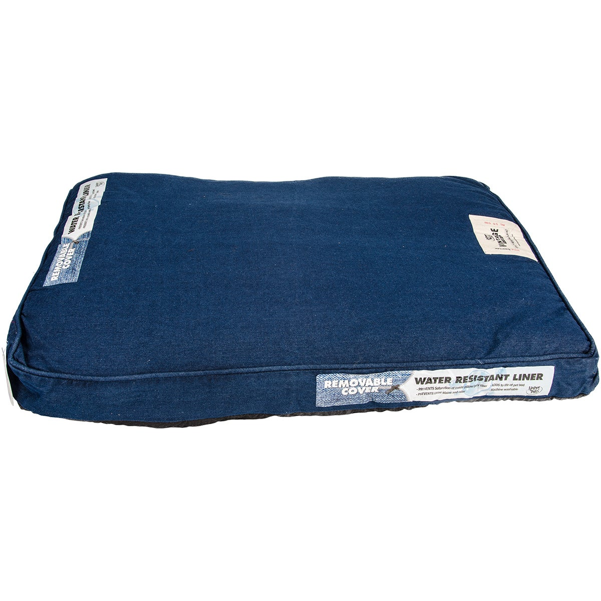 Happy Tails Denim Wash Pet Bed (Gray - 36 in. H x 27 in. ...
