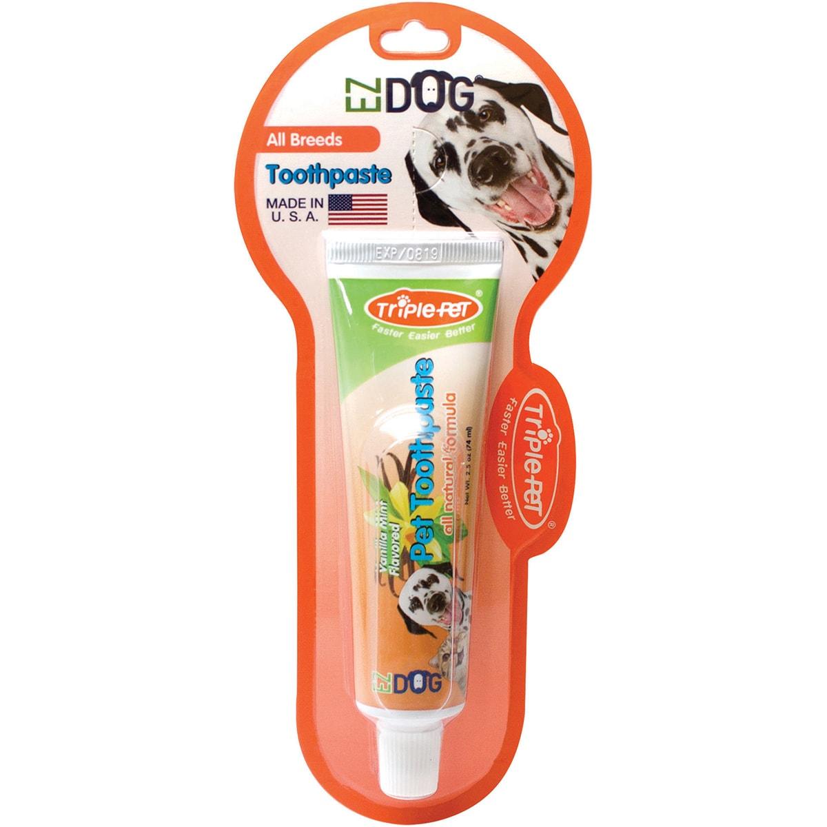 Triple Pet EZ Dog Pet Toothpaste (Vanilla (White))