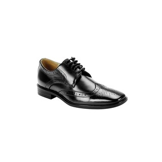Men's Fratelli Black Leather Oxford Shoes