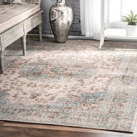 nuLOOM Traditional Faded Floral Beige Rug  (5' x 7'5) - 5' x 7'5""