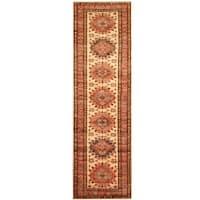 Herat Oriental Afghan Hand-knotted Tribal Super Kazak Wool Runner (2'8 x 9')