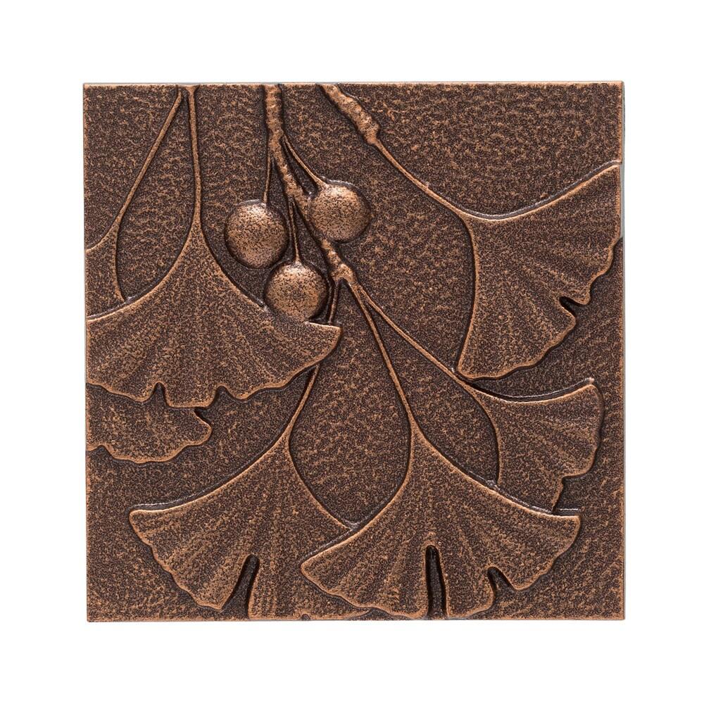 White Hall Home Decorative Gingko Leaf Antique Copper Wall Decor (Antique Copper)