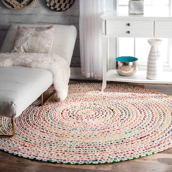 The Curated Nomad Grove Handmade Ivory Rug (6' Round)