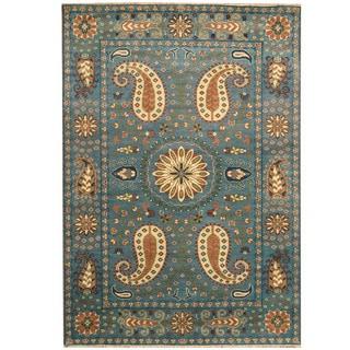 Herat Oriental Indo Hand-knotted Tribal Kazak Wool Rug (6' x 9')