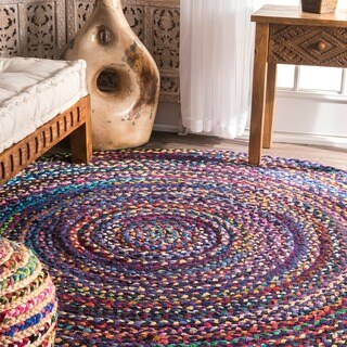 The Curated Nomad Grove Braided Multicolor Rug - 6' Round