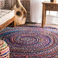 The Curated Nomad Grove Braided Multicolor Rug - 8' Round
