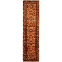 Herat Oriental Afghan Hand-knotted Tribal Super Kazak Wool Runner - 2'6 x 9'6