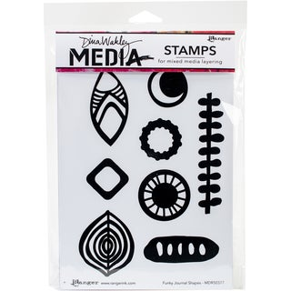 Dina Wakley Media Cling Stamps 6X9-Funky Journal Shapes
