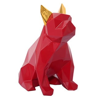 Mans Best Friend Red and Gold Sculpture