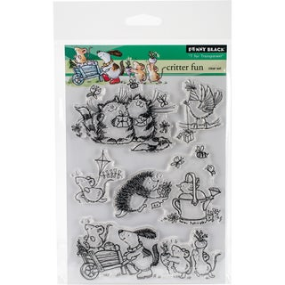 Penny Black Clear Stamps 5X7-Critter Fun