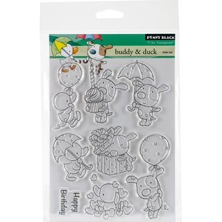 Penny Black Clear Stamps 5X7-Buddy & Duck
