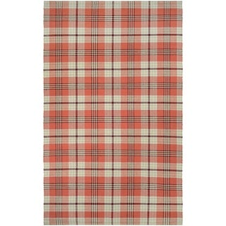 Couristan Bar Harbor Cape Plaid Pumpkin Patch Area Rug (3' x 5')