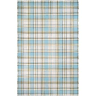Couristan Bar Harbor Cape Plaid/Cornflower-Natural Area Rug (3' x 5')