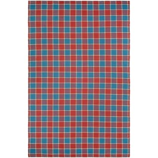 Couristan Bar Harbor Cape Plaid/Fruit Punch Area Rug (3' x 5')